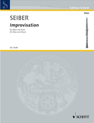 Improvisations - Oboe piano Matyas Seiber Partition laflutedepan
