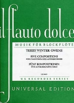 Owens Terry Winter - Five compositions – Alto recorder - Partition - di-arezzo.fr