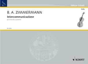 Bernd Alois Zimmermann - Intercomunicazione 1967 - Sheet Music - di-arezzo.com