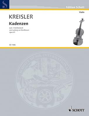 Fritz Kreisler - Kadenzen zum Violinkonzert von Beethoven op. 61 - Partition - di-arezzo.fr