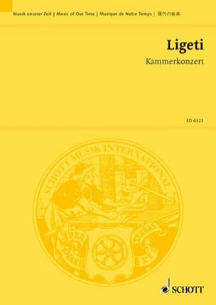 György Ligeti - Kammerkonzert - Sheet Music - di-arezzo.co.uk