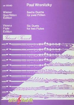Paul Wranitzky - 6 Duette Fac-Simile - Partition - di-arezzo.fr