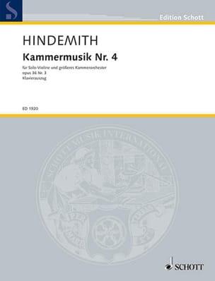 Kammermusik Nr. 4 op. 36 n° 3 - Paul Hindemith - laflutedepan.com