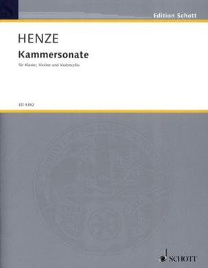 Hans-Werner Henze - Kammersonate –Stimmen - Partition - di-arezzo.fr