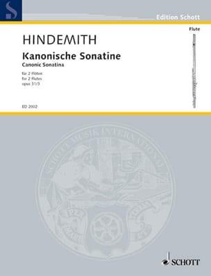 Paul Hindemith - Kanonische Sonatine op. 31 n ° 3 - 2 Flöten - Sheet Music - di-arezzo.com