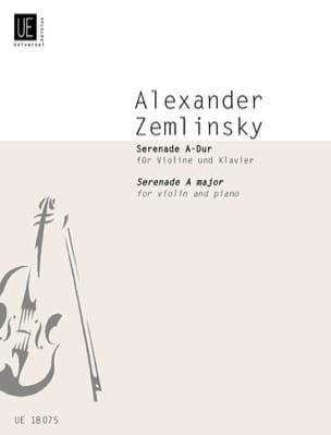 Alexander von Zemlinsky - Serenade A-Dur für Violine und Klavier - Partition - di-arezzo.fr