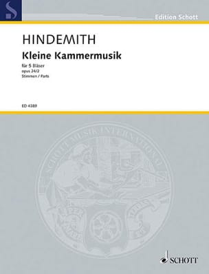 Kleine Kammermusik op. 24 n° 2 - 5 Bläser - Stimmen - laflutedepan.com