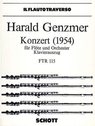 Harald Genzmer - Konzert (1954) - Flöte Klavier - Partition - di-arezzo.fr