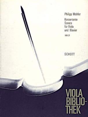 Philipp Mohler - Konzertante Sonate op. 31 - Partition - di-arezzo.fr