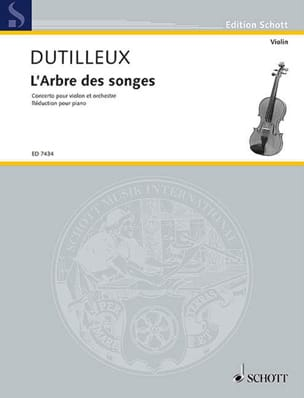 Henri Dutilleux - The Tree of Dreams - Sheet Music - di-arezzo.com