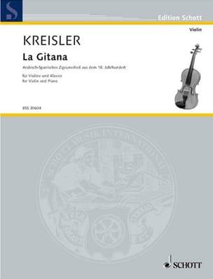 Fritz Kreisler - La Gitana - Partition - di-arezzo.fr