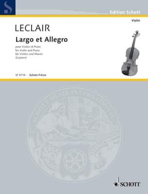 Jean-Marie Leclair - Largo - Sheet Music - di-arezzo.co.uk