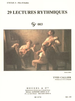 Yves Callier - 29 Lectures rythmiques - Partition - di-arezzo.fr