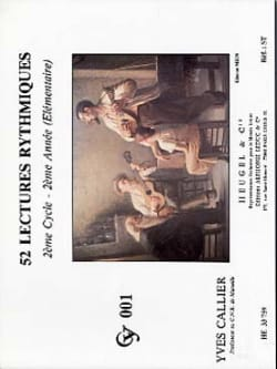 Yves Callier - 52 Lectures rythmiques - Sheet Music - di-arezzo.co.uk