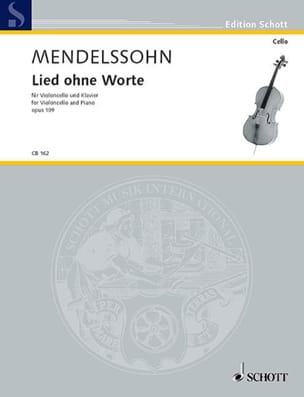MENDELSSOHN - Lied ohne Worte op.109 - Partition - di-arezzo.fr