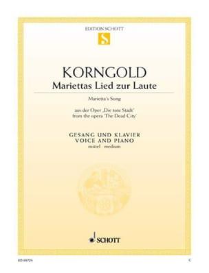Mariettas Lied zur Laute - Erich W Korngold - laflutedepan.com