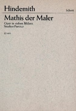 Paul Hindemith - Mathis der Maler - Partition - di-arezzo.fr