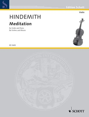 Paul Hindemith - Meditation - Violin - Sheet Music - di-arezzo.co.uk