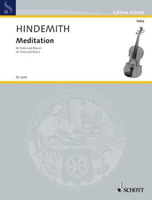 Meditation - Alto Paul Hindemith Partition Alto - laflutedepan