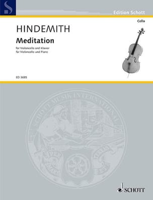 Paul Hindemith - Meditation - Cello - Partition - di-arezzo.fr