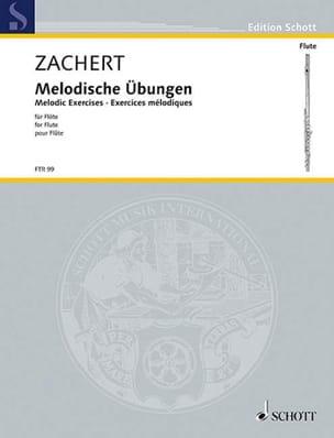 Melodische Übungen – Flöte - Walter Zachert - laflutedepan.com