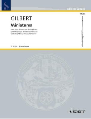 Miniatures - Etienne Gilbert - Partition - laflutedepan.com