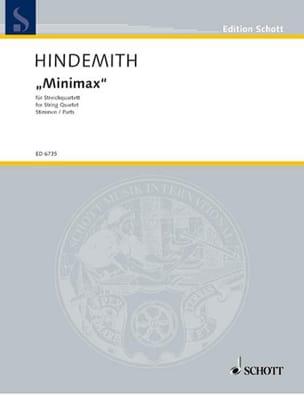 Paul Hindemith - Minimax - Streichquartett – Stimmen - Partition - di-arezzo.fr