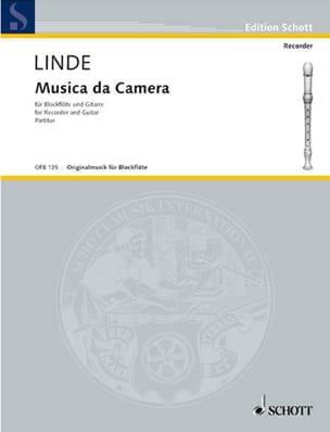 Hans-Martin Linde - Musica da Camera – Blockflöte Gitarre - Partition - di-arezzo.fr