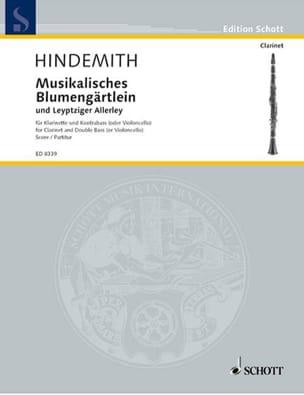 Paul Hindemith - Musikalisches Blumengärtlein und Leyptziger Allerley - Partition - di-arezzo.fr