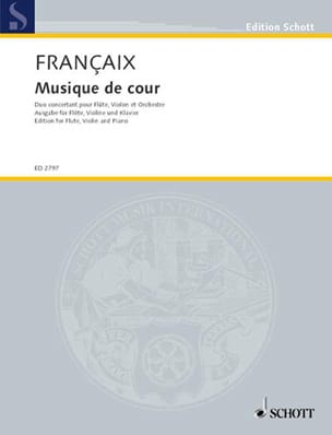 Jean Françaix - Court Music - flute, violin, piano - Sheet Music - di-arezzo.com