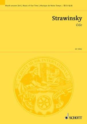 Ode – Partitur - Igor Stravinsky - Partition - laflutedepan.com