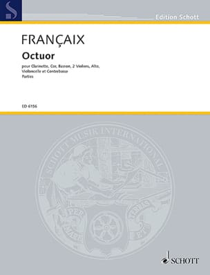 Jean Françaix - Oktett Octuor- Parties - Clarinet-Horn-Bassoon-2 Violins-Alto-Cello-Cbasse - Sheet Music - di-arezzo.co.uk