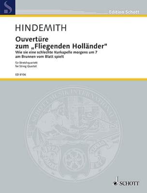 Paul Hindemith - Casa abierta zum fliegenden Holländer - Partitur Stimmen - Partitura - di-arezzo.es