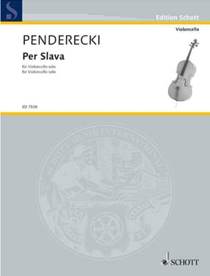 Krzysztof Penderecki - Per Slava 1986 - Sheet Music - di-arezzo.co.uk