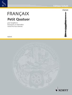 Jean Françaix - Small Quartet - Clarinets - Score Parts - Sheet Music - di-arezzo.co.uk