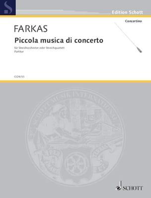 Piccola musica di concerto – Partitur - laflutedepan.com