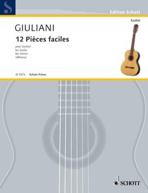 Mauro Giuliani - 12 Pièces faciles pour guitare - Partition - di-arezzo.fr