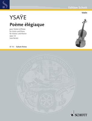 Eugène Ysaÿe - Elegiac poem op. 12 - Sheet Music - di-arezzo.co.uk