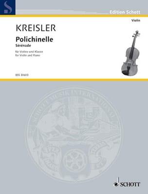 Polichinelle - Fritz Kreisler - Partition - Violon - laflutedepan.com