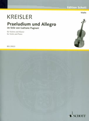 Fritz Kreisler - Prelude and Allegro - Pugnani - Partition - di-arezzo.co.uk