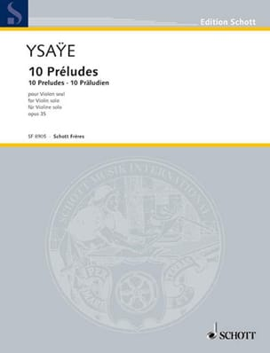 Eugène Ysaÿe - 10 Préludes op. 35 - Partition - di-arezzo.fr