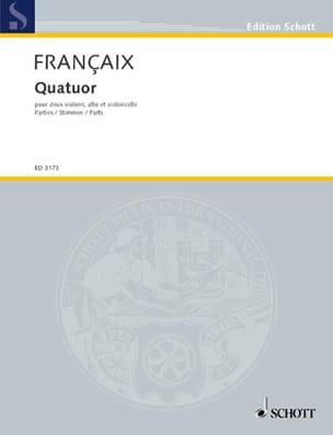 Quatuor à cordes 1938 -Parts FRANÇAIX Partition laflutedepan