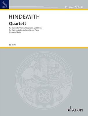Paul Hindemith - Quartett –Klarinette Violine Violoncello Klavier - Partition - di-arezzo.fr