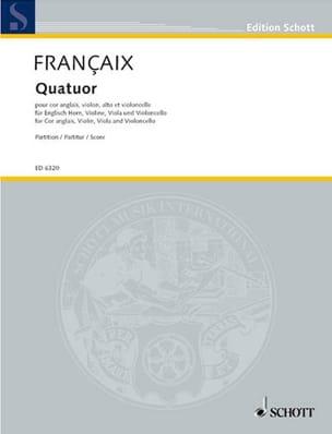 Jean Françaix - Quatuor (1970) - cor anglais, cordes – Score - Partition - di-arezzo.fr