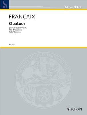 Jean Françaix - Quatuor (1970) – Cor anglais, violon alto et violoncelle - Partition - di-arezzo.fr