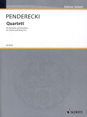 Quatuor (1993) - Krzysztof Penderecki - Partition - laflutedepan.com