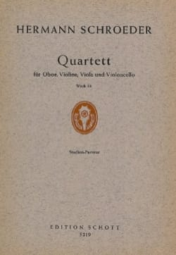 Quatuor, Op. 38 - Conducteur - Hermann Schroeder - laflutedepan.com