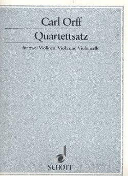 Quartettsatz –Partitur + Stimmen - Carl Orff - laflutedepan.com