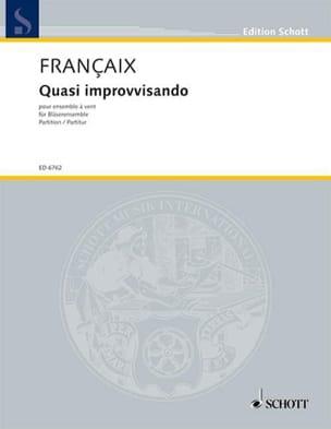 Quasi improvvisando 1978 - Jean Françaix - laflutedepan.com