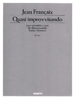 Jean Françaix - Quasi improvvisando 1978 - Partition - di-arezzo.fr